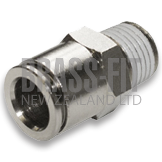 Picture of N1568 MALE CONNECTOR METRIC NICKEL PLATED