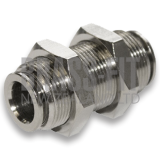 Picture of N1574 BULKHEAD UNION METRIC NICKEL PLATED