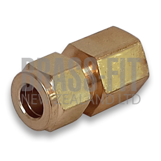 Picture of TFBM66 FEMALE CONNECTOR TWIN FERRULE - METRIC